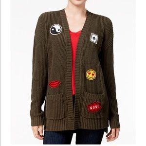 Hippie Rose Sweaters - 😎✌️Hippie Rose Olive Patch cardigan sweater🤘