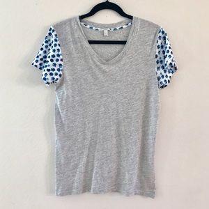 J.CREW Floral Print Sleeve Tee Shirt