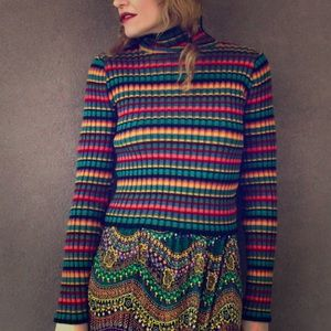 American Vintage Sweaters - • retro striped turtleneck •