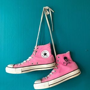 d6413fd76709 Converse Shoes - Pink Converse Jackass Edition