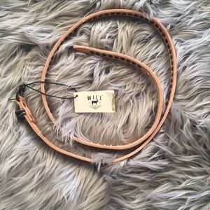 Will Leather Goods Accessories - will leather goods/ skinny studded belt