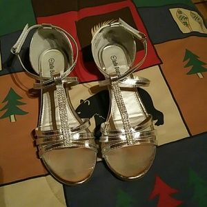 Jelly Beans Other - Girls Size 4 Silver Wedge Sandals
