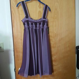 Dresses & Skirts - Beautiful purple chiffon dress size M NWT