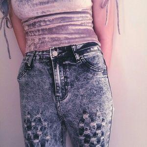 Denim - 🎈2 for $20🎈Super unique skinnies!!