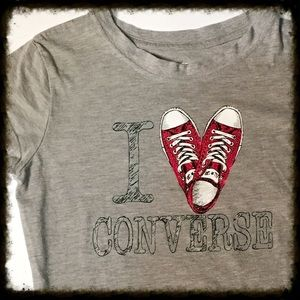 Converse Other - Gray I ❤️ Converse Tee Size Girl's Large