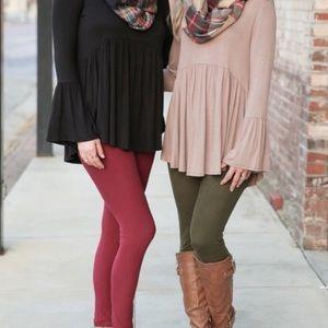 Infinity Raine Pants - Super soft burgundy leggings