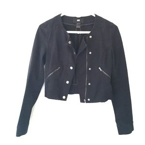 H&M Jackets & Blazers - Cropped Motorcycle Style Jacket