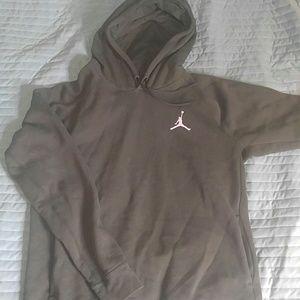 Nike Other - Jordan dark green hooded sweatshirt L