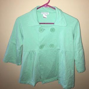 Ashley Blue Tops - Ashley Blue Cotton Jacket - Medium