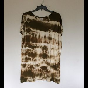 Olive Tie Dye Dress Beach cover up