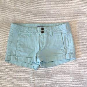 Express Aqua Blue Shorts