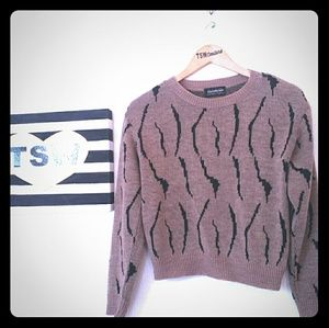 BRENDA LIM Vintage zebra sweater medium