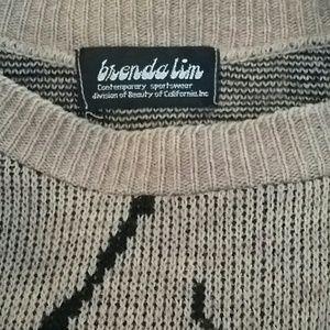 Brenda lim Sweaters - BRENDA LIM Vintage zebra sweater medium
