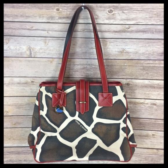 Dooney Bourke Bags Dooney Bourke Giraffe Print Red Trim Purse