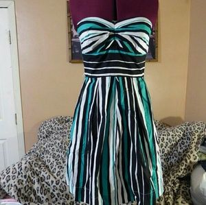 Teeze Me Dresses & Skirts - Strapless Striped Dress