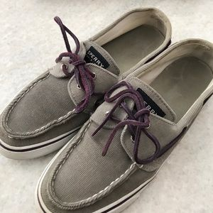 Sperry Top-Sider Shoes - Sperry Top-Sider Gray corduroy