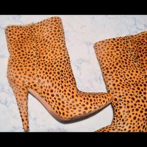 Loeffler Randall Cheetah Print Booties Leopard 7
