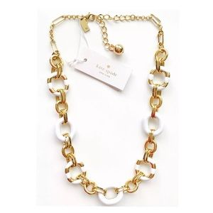🆕NWT Kate Spade white gold chain collar necklace