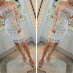 For Love and Lemons Dresses & Skirts - ONE DAY ONLY! 🌸Off Shoulder White Lace Dress