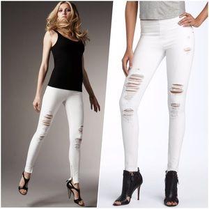 Joe's Jeans Denim - Joe's The Jean Legging in White Destroy