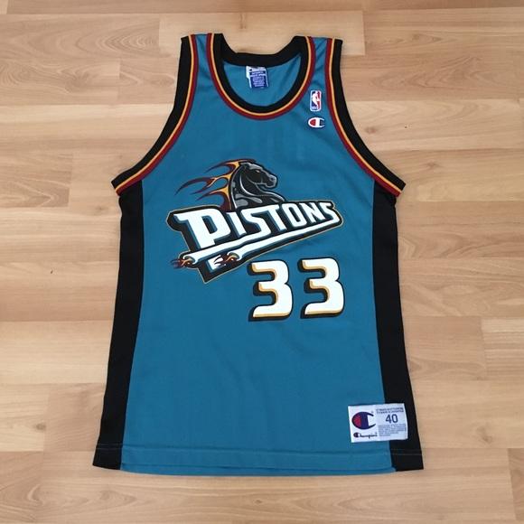 Champion Other - VNTG Grant Hill Detroit Pistons Champion Jersey 40 2fb677715