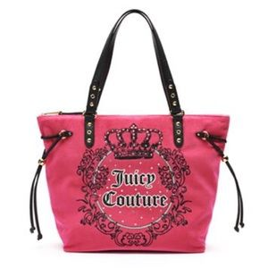 Juicy Couture Handbags - JUICY COUTURE PINK BLING CREST TOTE BAG