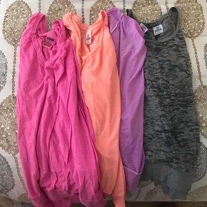 VS pink long sleeve t-shirts bundle
