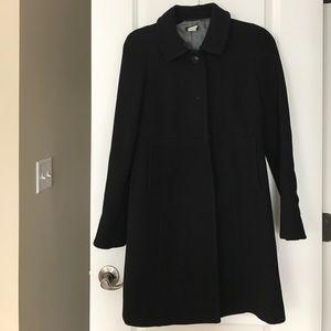 Jcrew classic womens black coat size 4
