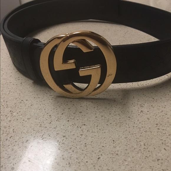 Rose gold Gucci belt