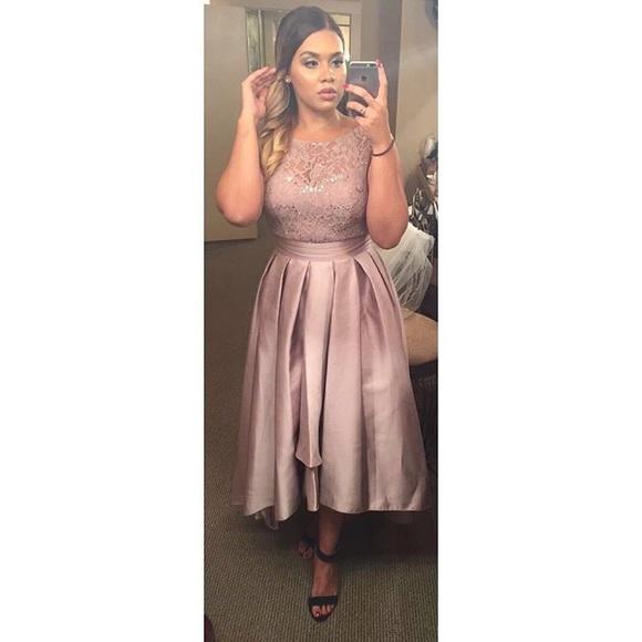 4b75216f David's Bridal Dresses | Sequin Lace Dress With Mikado Skirt | Poshmark