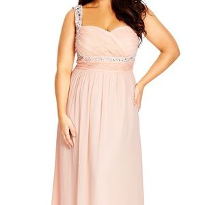 City Chic Dresses & Skirts - Beaded Innocence Sweetheart Maxi  in Blush 💐PROM
