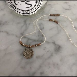 Jewelry - Mini Silver + Gold Necklace with Mini Coin pendant