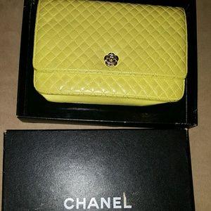 Chanel chain cross body wallet purse, lambskin