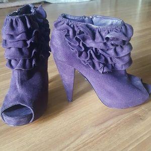 Wild Diva Shoes - Peep toe booties
