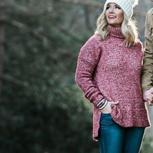 J. Crew Sweaters - Red marled j.crew sweater- like new