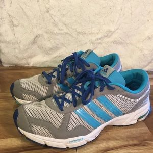 Adidas Shoes - Gray and Blue Adidas Marathon 10 Sneakers