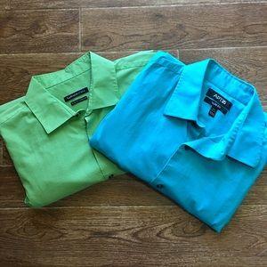 Bundle Other - Van Heusen/Apt 9 -Men's Vibrant Dress Shirt Bundle