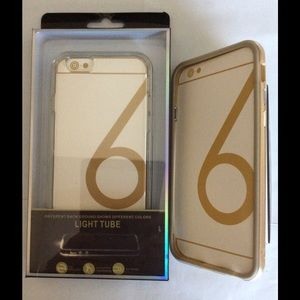 Accessories - iPhone 6 Light Tube Silicone Case Gray or Gold