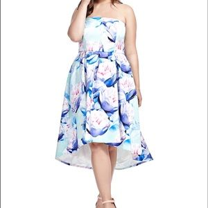 City Chic Dresses & Skirts - 'Perfect Peony' Hi-Lo Fit & Flare Dress