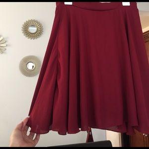 HIGH WAISTED wine-red Skirt!