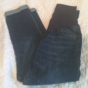 Old Navy Pants - Old Navy Maternity Cropped Jeans