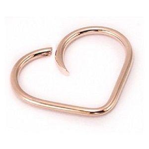 14k Rose Gold Cartilage Hoop Earring