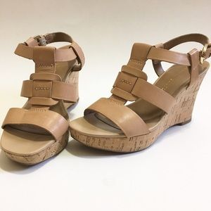 Franco Sarto Shoes - Franco Sarto nude wedge sandal