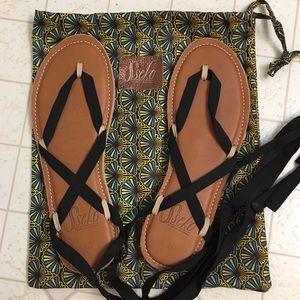 833d6b85d350 Sseko Shoes - Sseko Caramel Leather Stitch Ribbon Sandals