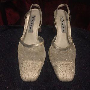 Nina Shoes - Nina Silver Square Toe Shoes