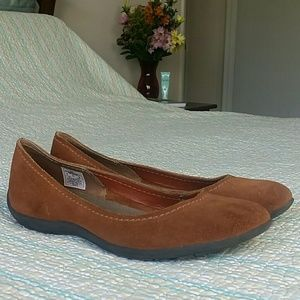 Merrell Shoes - Merrell Avesso Oak Brown Suede Ballet Flat Size 9