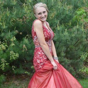Angela & Alison Dresses & Skirts - Angela & Alison Red Prom Dress