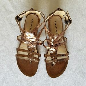 Apostrophe Shoes - ❤APOSTROPHE Gladiator Sandals Bronze Metallic❤