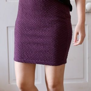 FP Purple Diagonal Design Skirt