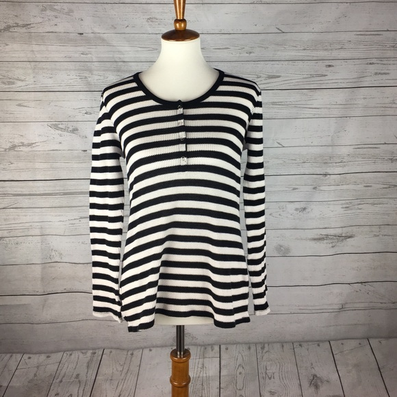 J. Crew Factory Tops - J. Crew Factory striped thermal